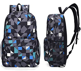 Luminous School Travel Outdoor Mochila al aire libre Ideal Versátil bolso de hombro Mochila para hombres Mujeres Lotes Bolsa de almacenamiento,Azul