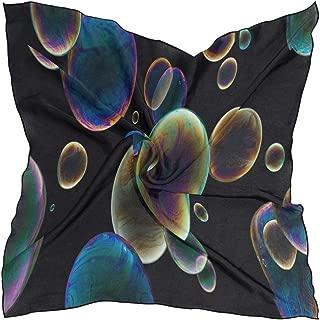 Fun Bubbles Scarf Womens Square Silk Scarves Shawl Wrap Neckerchief for Lady Girls