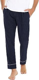 Mens Pyjama Bottoms 100% Cotton Long Pajamas Trousers Striped Pajamas Lounge Pants Nightwear