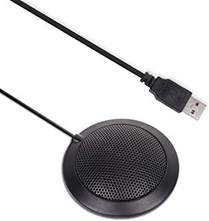 Conference USB Microphone for Computer, Plug & Play Omnidirectional Boundary Condenser PC Microphones for Streaming,VoIP C...