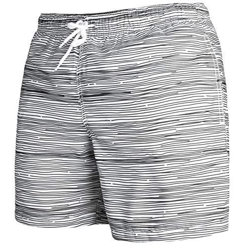 Occulto Herren Männer Badehose in vielen Farben | Badeshort | Bermuda Shorts | Beachshort | Slim Fit | Schwimmhose | Boardshort | Jungen (XL, Anthrazit)
