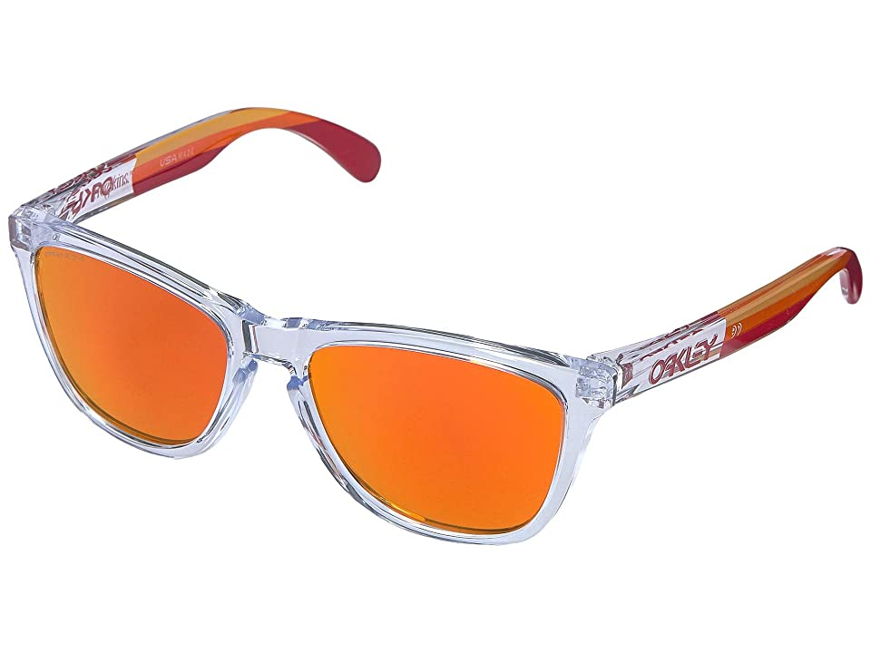Oakley Frogskins (Polished Clear w/ Prizm Ruby) Sport Sunglasses
