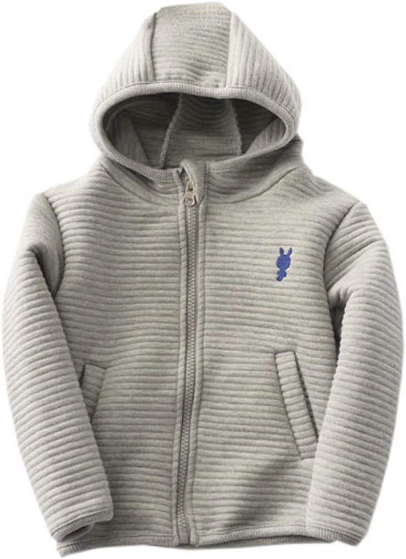 Betusline Kids Boys Girls Full-zips Hooded Jacket, 2-10 Years