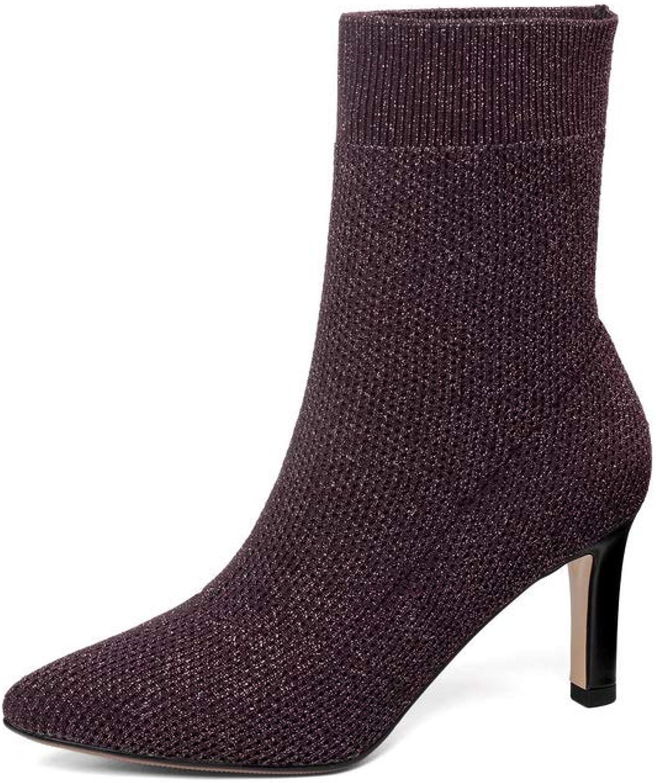 AdeeSu Womens Dance-Ballroom High-Heel Charms Urethane Boots SXE05193