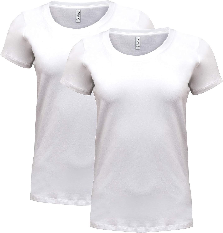 Marky G Apparel Womens Spandex Short-Sleeve Scoop Neck T-Shirt