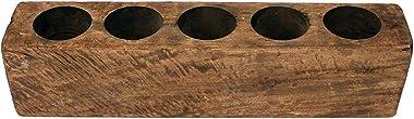 Rhyne & Sons 5 Hole Sugar Mold - Wooden Rustic Candle Holder Farmhouse Home Decor