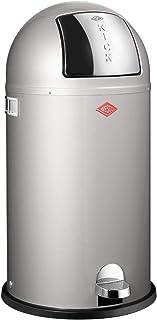 WESCO (ウェスコ) プッシュペダルビン&メタルライナー40L KICKBOY メタリックシルバー サイズ:∅40×H75.5cm 177731-11