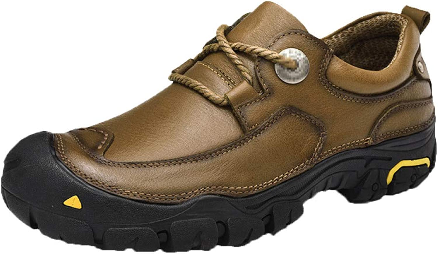 Men's Lightweight Round Toe Leather-Lined Lightweight Formal Business Work Comfort Lace-Up