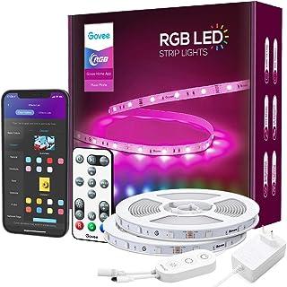 Govee LED Strip RGB 15m Alexa LED Streifen Smart WiFi Leuchten mit Fernbedienung App Steuerung Musiksteuerung WLAN Google ...