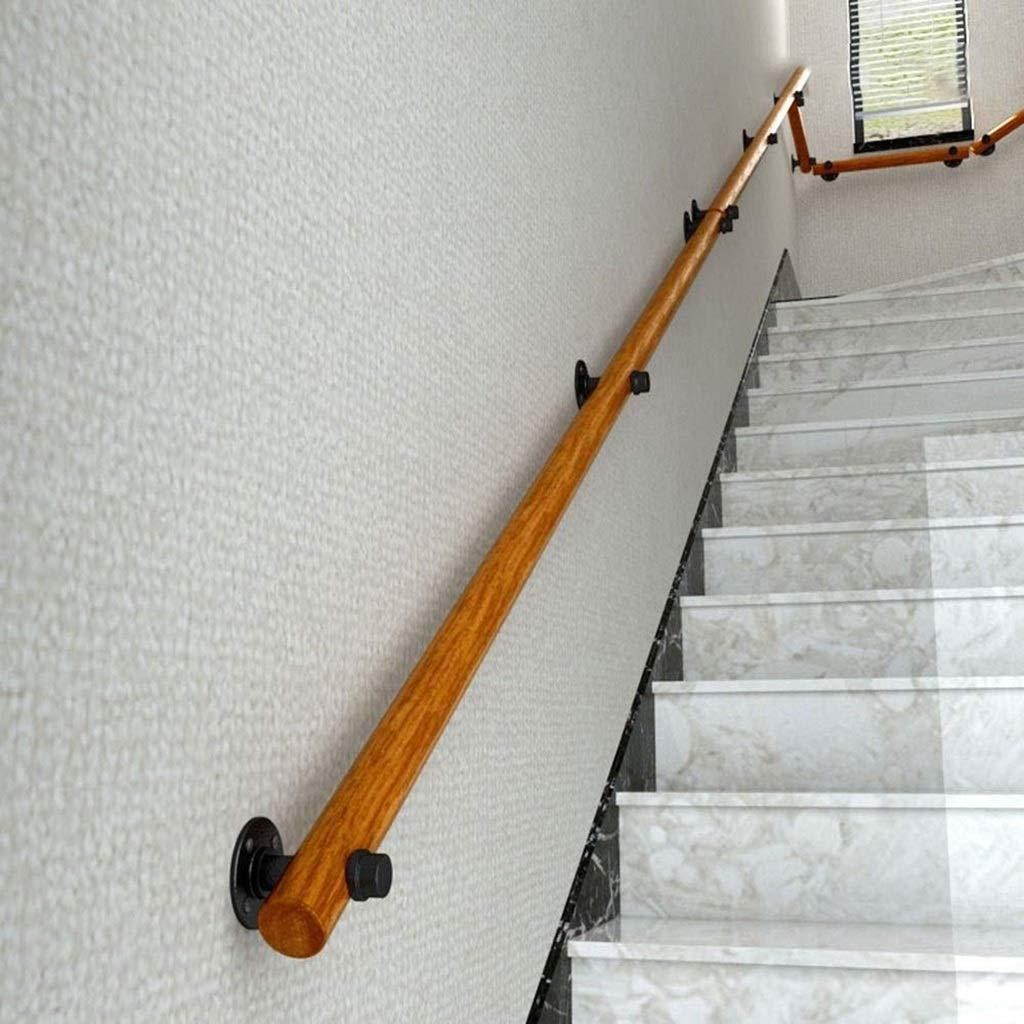 ACZZ Escalera de barandilla pasamanos de madera pasamanos y antideslizante de madera sólida escalera Pasamanos hogar contra la pared interior Loft ancianos Pasamanos Pasamanos Corredor de apoyo de Ro: Amazon.es: Bricolaje y