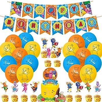 Backyardigans Party Decorations Set Backyardigans Theme Birthday Supplies Cake Topper Banner Balloons for Backyardigans Lovers Party Supplies Decor