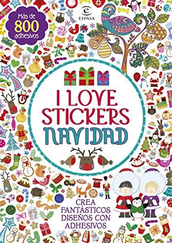 I love stickers Navidad (Libros de actividades)