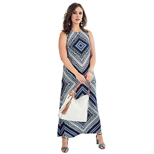 27b843a7cb7c9 Roamans Women s Plus Size Print Maxi Dress