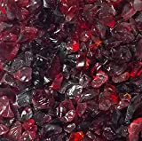 One Stop Outdoor RED Multi-Purpose Premium Decor & Fire Glass Rock 2-Pound 1/4'-1/2' inch - for Use in Fire Features, Aquariums, Apothecary, Jars, Vase, Potted Plants, Fire Bowls, Etc.