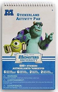 SandyLion Monsters University Stickerland Activity Pad 600+ Mini Stickers Plus Coloring Pages