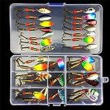 BrilliantDay Señuelos Pesca,Pesca Accesorios,Conjunto de 31 Estuche para Señuelos con Accesorios