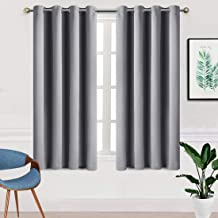TEKAMON Blackout Window Curtains for Bedroom Grommet 2 Panels Set Draperies,Thermal Insulated for Living Room,Nursery (W52 X L63 inch,Light Grey)