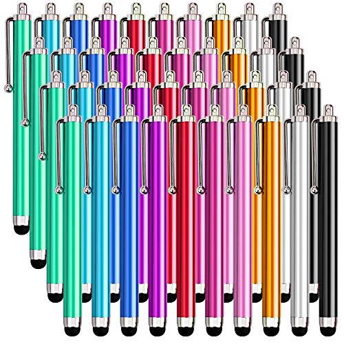 XMONKEY - Penna stilo per touch screen, 40 pezzi, compatibile con iPad, iPhone, smartphone e tablet con touch screen capacitivo