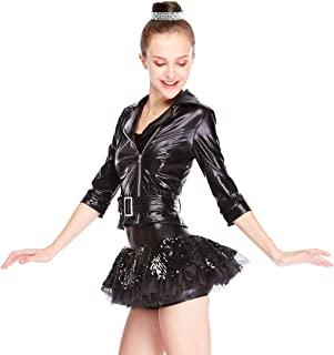 Jazz Costume Sequins Dress Foiled Jacket Wide Waist Belt Jazz Outfits