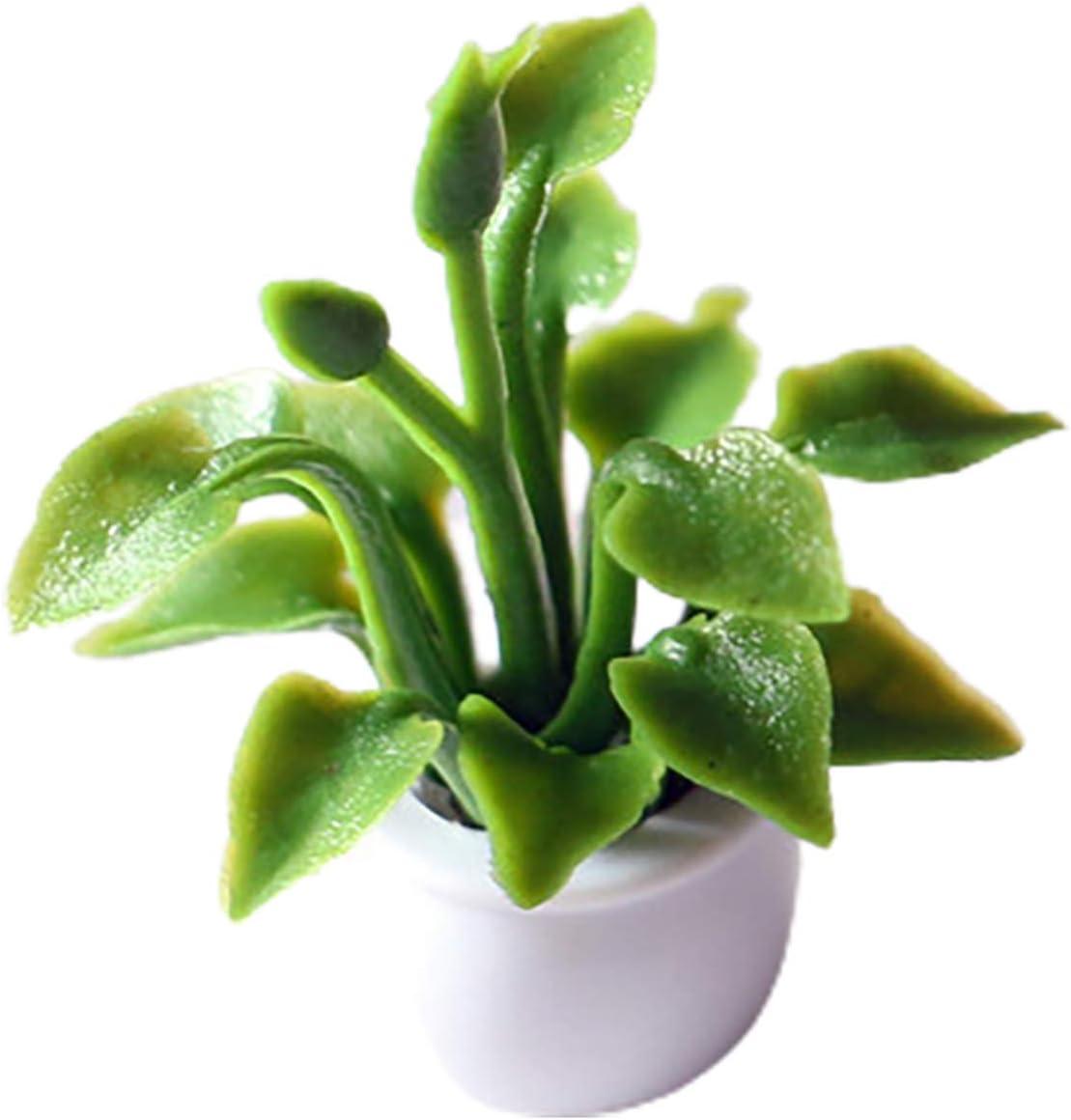 Goodilest Super beauty product restock quality top! Dollhouse New arrival Plant Bonsai Simulation Mini High Pot