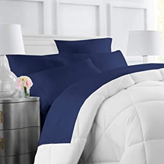 Egyptian Luxury Hotel Collection 4-Piece Bed Sheet Set - Deep Pockets, Wrinkle and Fade Resistant, Hypoallergenic Sheet and Pillow Case Set  - Queen, Navy