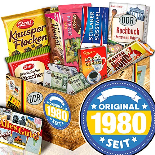 Original seit 1980 / DDR Korb Schokolade / Geschenk zum 40. Geburtstag