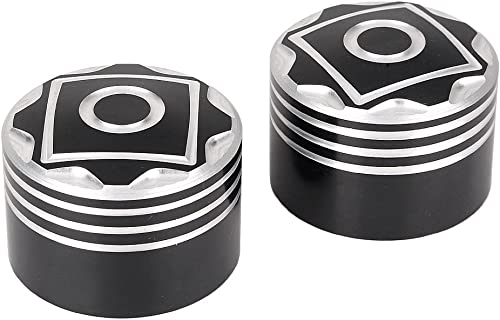 wholesale Mallofusa Mototcycle Front Axle Nut Covers Caps wholesale Compatible for online 2007 Later Softail 2008 Touring online