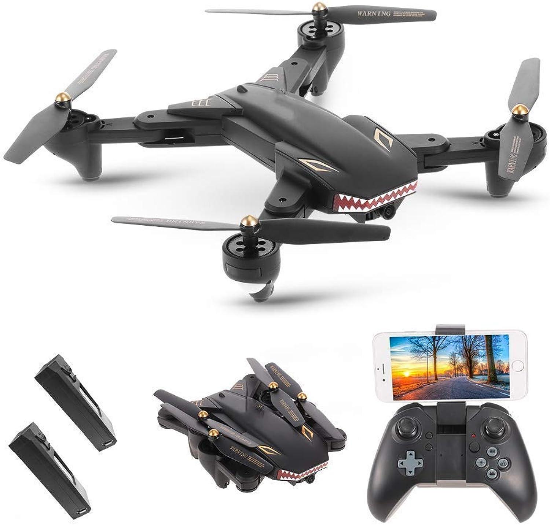 RCDNE XS809S Drohne mit 2.0MP Weitwinkelkamera Quadcopter WiFi FPV Faltbarer One-Return-Hhenstand-G-Sensor mit Einer zustzlichen Batterie