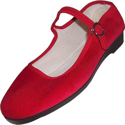 Unbekannt Womens Mary Jane Flats Red