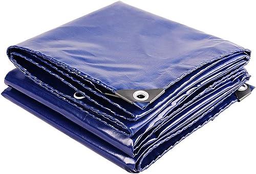 Pièges à couverture de qualité supérieure en bache opaque 420gsm for jardin et camping, prougeection multi-usage contre la pluie et le soleil avec oeillet en métal, bleu (Taille   4x5m)
