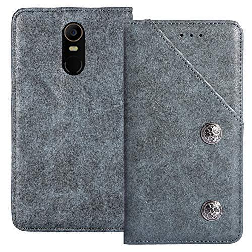 YLYT Flip Blue Schutz Hülle Hülle Für TP-Link Neffos X1 Max 5.5 inch Etui Leder Tasche Handyhülle Hochwertiges Stoßfeste Kartenfach Cover