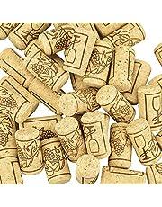 TOKINCEN Corchos de Vino Tapones de Botella de Corcho Natural Natural Tapón de Corcho Recto para Manualidades,Decoración y Pasatiempos, 2.1*4cm
