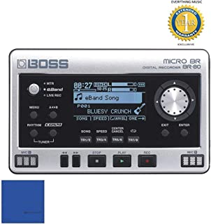 Boss Micro BR BR-80 8-track Digital Recorder with 1 Year Free Extended Warranty