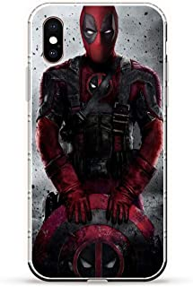iPhone Xs Max Case,Transparent Soft TPU Protective Cover for Apple iPhone Xs Max-Deadpool 4