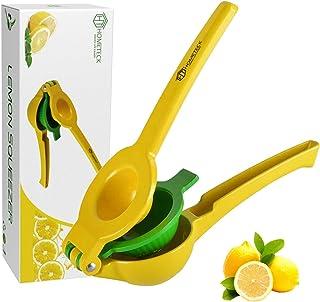 HomeTeck® Exprimidor de Limón 2 EN 1, Exprimidor de Naranja Manual Exprimidor de Cítricos, Aleación de Aluminio, Sin BPA, ...