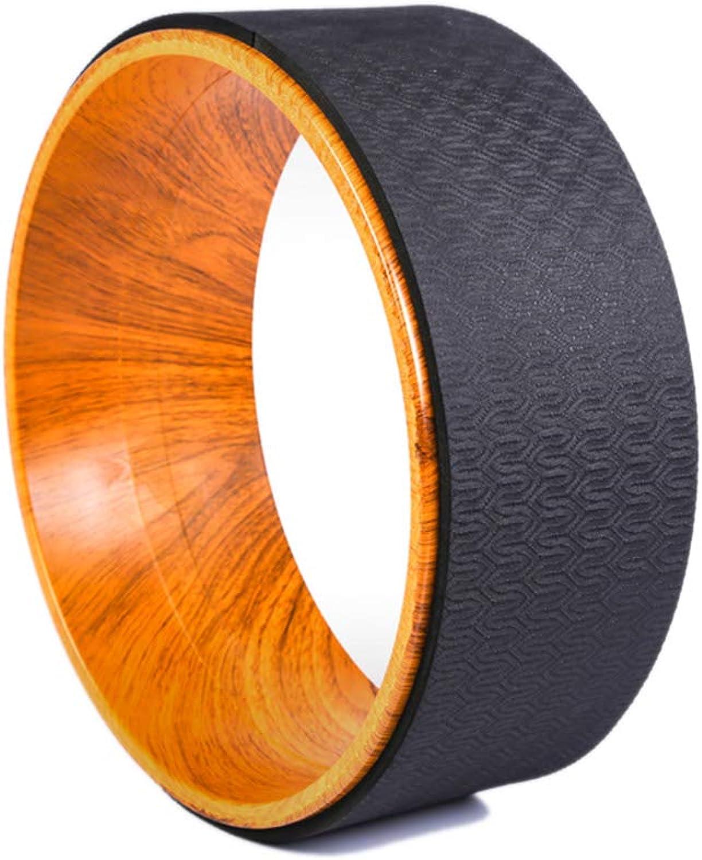 TESITE Yoga Rad Kreis Dharma Sportrad DüNner RüCken Größentraining Pilates Ring (Schwarz)