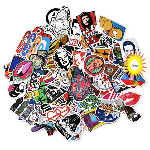 Neuleben Aufkleber Pack [100-pcs] Graffiti Sticker Decals Vinyls für Laptop, Kinder, Autos, Motorrad, Fahrrad, Skateboard Gepäck, Bumper Sticker Hippie Aufkleber Bomb wasserdicht (Serie-2)