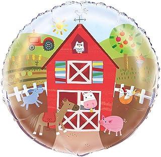 """Unique Party 72467 - 18"""" Foil Farm Party Balloon"""