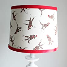 Red and White Sock Monkey Nursery Lamp Shade