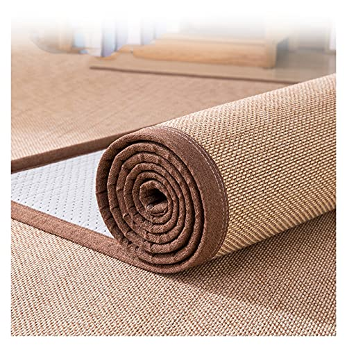 Natural Bamboo Carpet, Non-slip Rattan Carpet Mat, Living Room Floor Mat, Teahouse Children's Games Balcony Fiber Area Rug, 2 Thickness,Customizable Size (Color : 2.6cm, Size : 130x180cm)