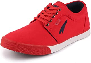 Lakhani Men's Canvas Lace Up Sneakers Casual Shoes