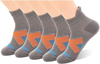 Copper Anti-Smell Men's Cushion Low Cut Running Socks with Tab 5 Pairs