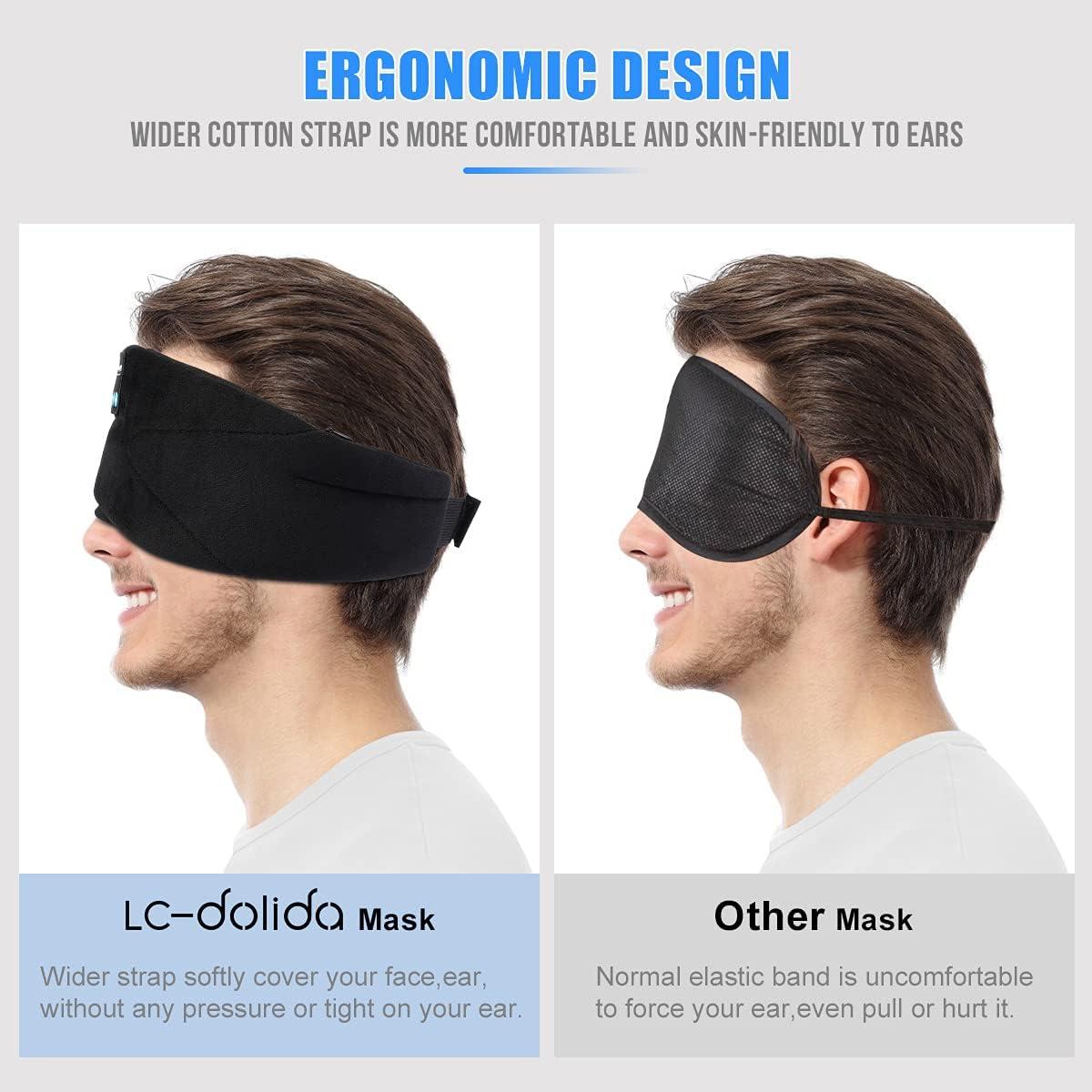 Schlafmaske mit Kopfhörer