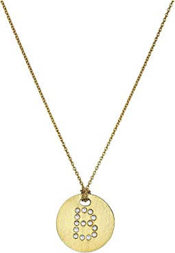 Tiny Treasures 18K Yellow Gold Initial B Pendant Necklace