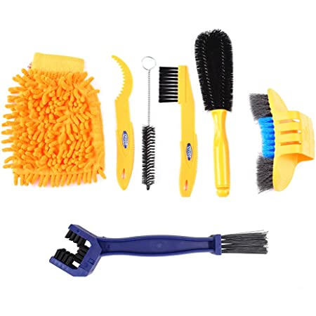 Bicycle Cleaning Brush Tool Set Bike Chain Repair Tool Set Totally 14 Pieces