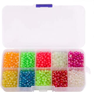 Dr.Fish Fishing Bead Bait Eggs Kits Floating Ball Stopper Plastic with Box Glow Round Luminous Saltwater Freshwater Salmon Trout 500-3000pcs