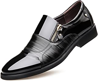 Men's Pointed Toe Pleather Dress Shoes Casual Oxford