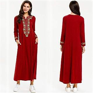 Women Muslim Robe Clothing Abaya Islamic Arab Kaftan Dubai Dress