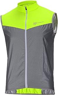 comprar comparacion ROCKBROS Chaleco Reflectante para Ciclismo Transpirable Corto Resistente al Viento Cortavientos Alta Visivilidad para Runn...