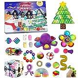 Calendario dell'Avvento 2021 Fidget Toys, 24 Pezzi Natale Calendario dell'Avvento Fidget Toy Set, Fidget Toys Box Regali a Sorpresa (A)